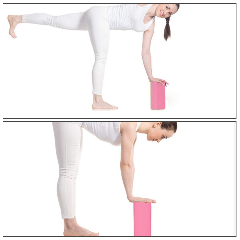 ISE - Bloque de Yoga de Espuma EVA de Alta Densidad (23 x 15 ...