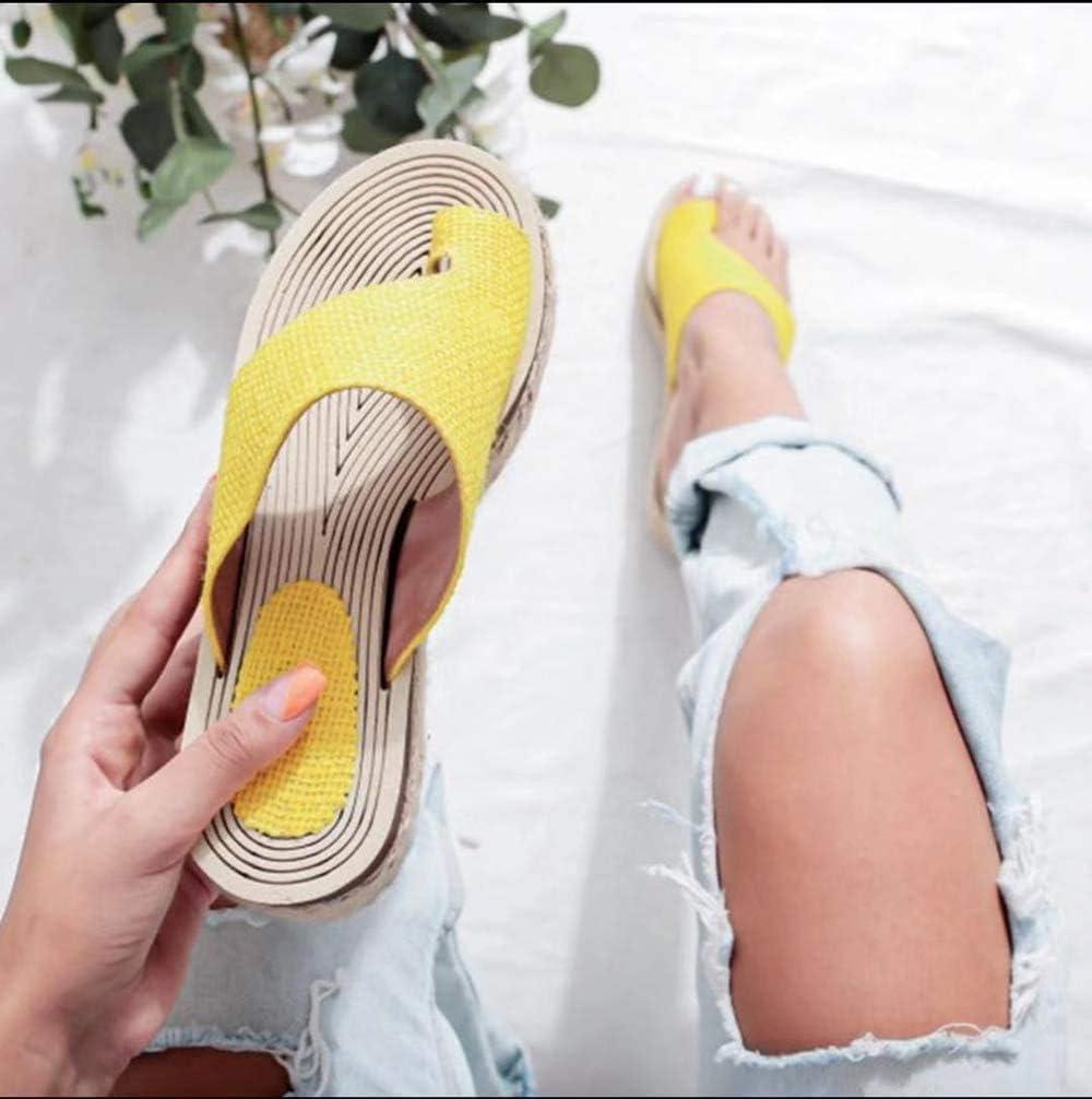 2020 Newest /Ét/é Sandales Femmes Sandales Plates Toe T-Sangle Comfy Semi Trailer Sandales Chaussures de Plage LCCYJ Sandales Plates Femmes Confortables Orthopedique Chaussures Plateforme
