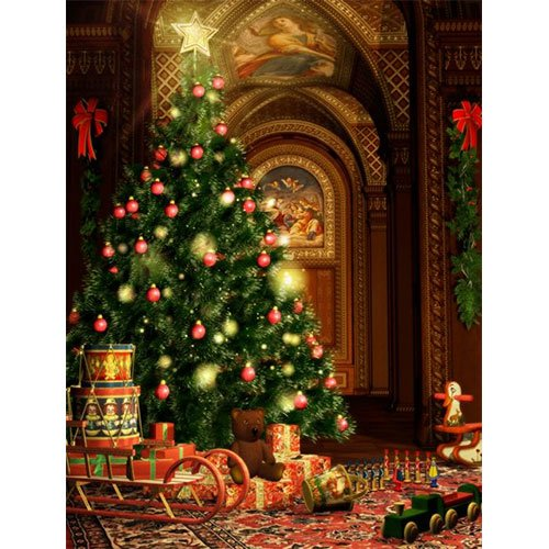 CHRISTMAS Printed Photography Background sparkle lights Titanium Cloth TC9265 Backdrop 10'x20' Ft (120''x240'') Better Then Muslin or Canvas by PHOTOGRAPHY OUTLET