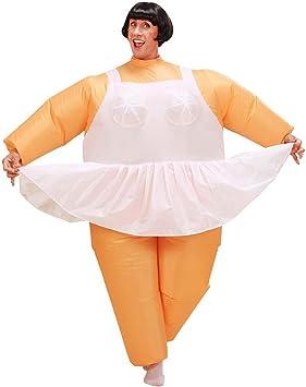 NET TOYS Disfraz Inflable Bailarina Gruesa Hombre Gordo Ballet ...