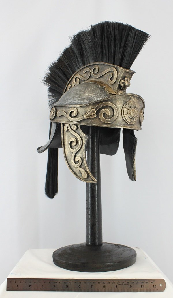 1/1 King Arthur Helmet Horse Hair Plume Replica Roman Officer Collectible