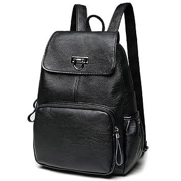 b8d61af11b92a Rucksack Damen Wasserdicht Elegant Groß Schwarz Rot Blau Leder Daypacks  Backpack für Mädchen Frauen Handtasche Schultertasche