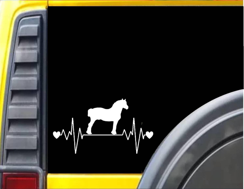 EZ-STIK Draft Horse LifelineJ357 8.5 inch Wide Sticker Draft Horse Decal