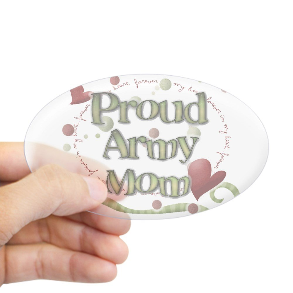 Amazon com cafepress proud army mom whimsy sticker oval bumper sticker euro oval car decal home kitchen