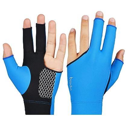 newest order on feet images of Amazon.com: Glumes Billiard Glove Elastic Lycra 3 Fingers ...