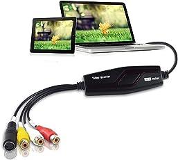 DIGITNOW Convertidor de captura de vídeo USB, VHS a DVD Digital Grabber Grabador, Capturadora Digitalizadora de vídeo para Mac Windows