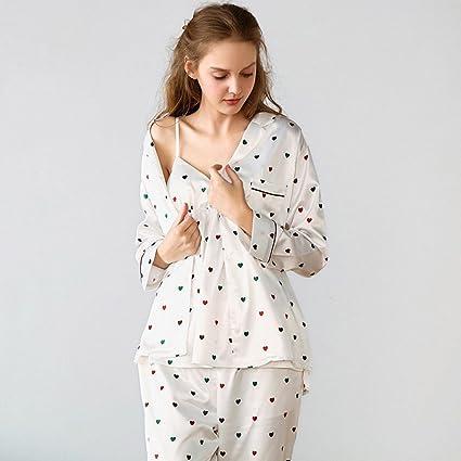 Pijamas de seda de verano para mujer de verano tirantes de tirantes de correa sexy pecho