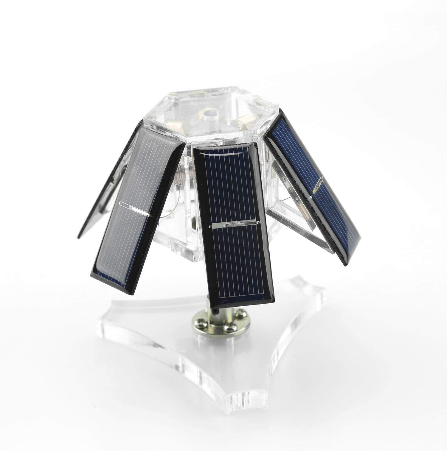DIY 6 Solar Silicon Wafer Solar Magnetic Levitation Mendocino Motor Steam Stirling Engine Model