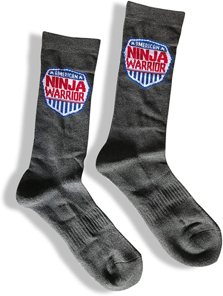 American Ninja Warrior Adult Athletic Crew Socks - Great Gift - Official NBC Merch