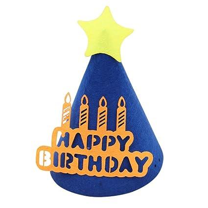 3da5f133a Amazon.com: Remeehi Cartoon Birthday Hat Caps Felt Hats Kids Party ...