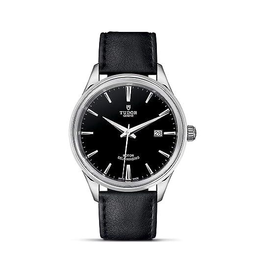 Tudor Style Reloj de Hombre automático 41mm Correa de Cuero M12700-0006: Amazon.es: Relojes