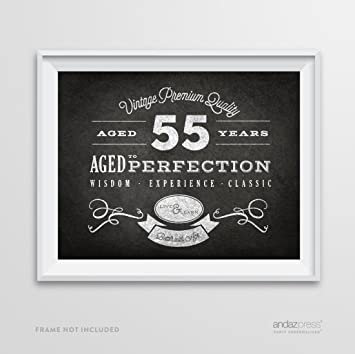 Andaz Press Milestone Birthday Wall Art Poster Signs 55th Gifts Decorations And Party