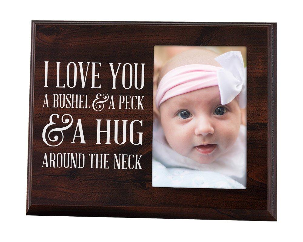Amazon.com : Nursery picture frame I love you a bushel and a peck : Baby
