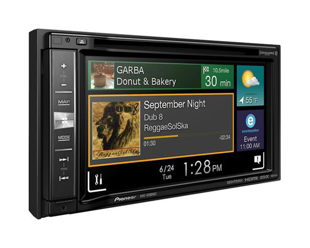 Pioneeer AVIC-6201NEX Double Din Radio Install Kit with GPS Navigation Apple CarPlay Android Auto Fits 1998-2005 Lexus GS Series by Pioneeer Volunteer Audio (Image #5)
