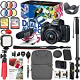 Canon EOS M50 Mirrorless Camera Body with 4K Video (Black) and Pro Photography Bundle Backpack, Monopod, SanDisk 64GB SDXC Memory Card, Extra Battery Kit (EOS M50 15-45mm Video Creator Kit)
