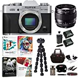 Fujifilm X-T20 Camera Body (Silver) with XF 23mm f/1.4 R Lens and Software Bundle