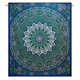 Handicrunch Mandala Tapestry Indian Cotton Tapestry Full Sheets Hanging Hippi...