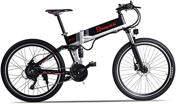 Sheng mi lo Bicicleta eléctrica de montaña M80 500W 48V12.8AH ...