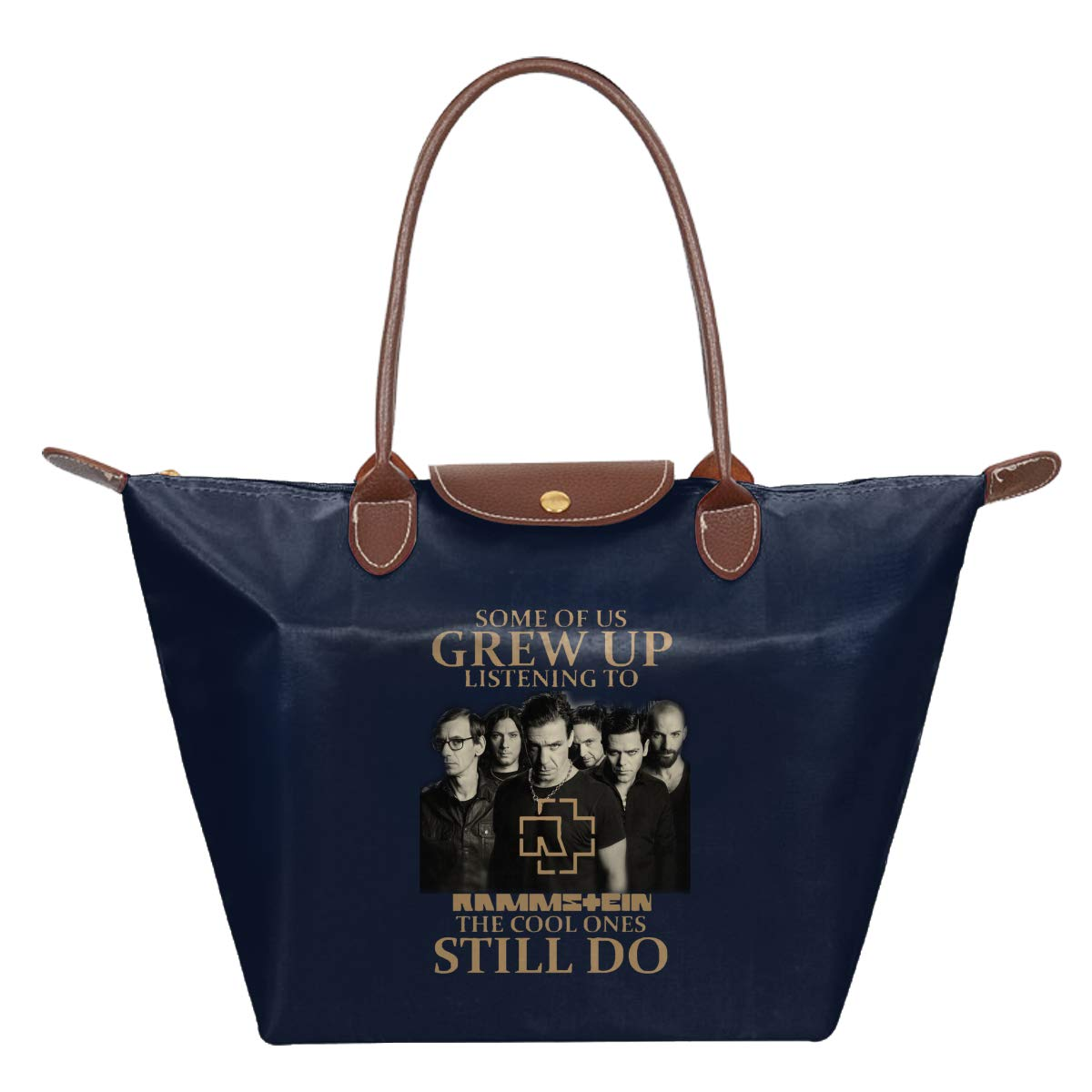 Some Of Us Grew Up Listening To Rammstein The Cool Ones Waterproof Leather Folded Messenger Nylon Bag Travel Tote Hopping Folding School Handbags