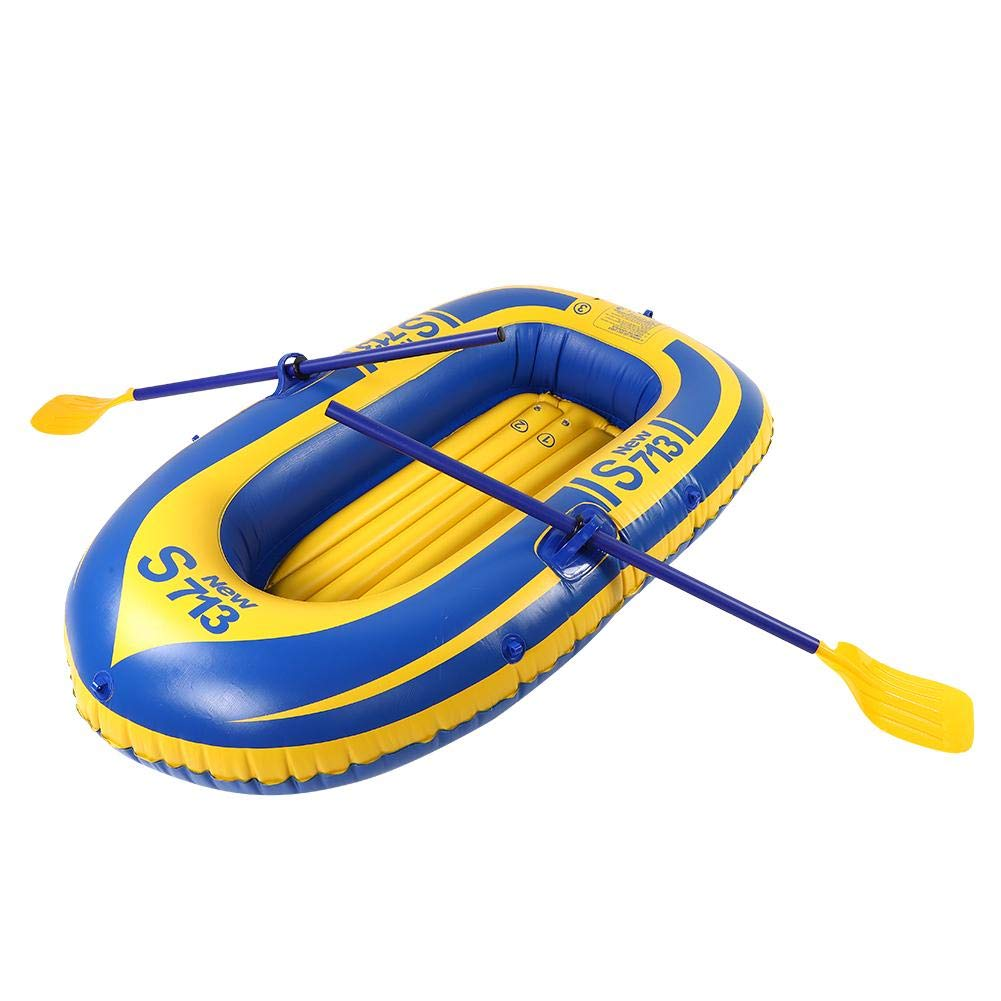 Alomejor 1 Person Inflatable Kayak PVC Thickening Material Inflatable Raft for Fishing Drifting Diving by Alomejor