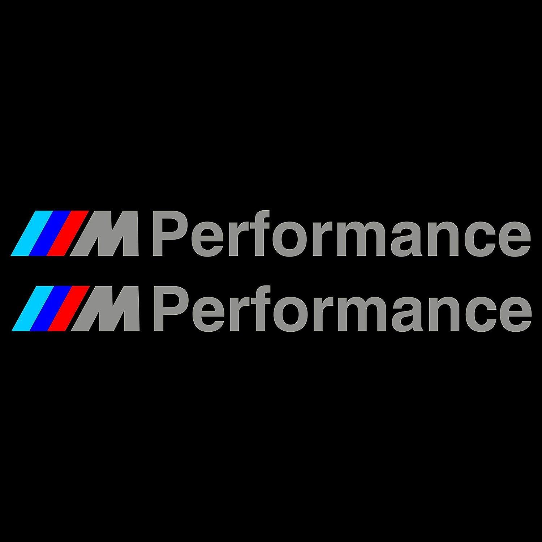 Silber Autodomy M Performance Aufkleber Paket 2 St/ück f/ür Auto