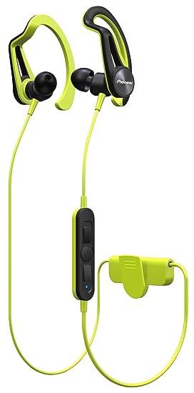 Pioneer SE-E7BT-Y - Auricular Deportivo con Bluetooth, Color Verde ...