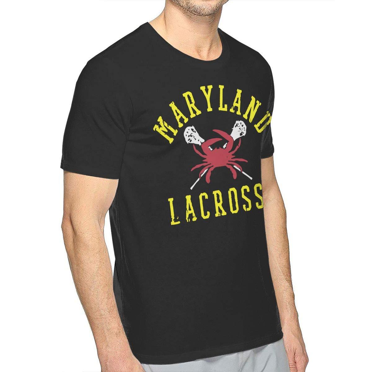 Maryland Crab Lacrosse Mens Sports Short-Sleeved T-Shirt