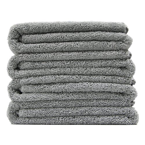 Polyte Premium Microfiber Bath Towel, 57 x 30 in, Set of 4 (Gray)