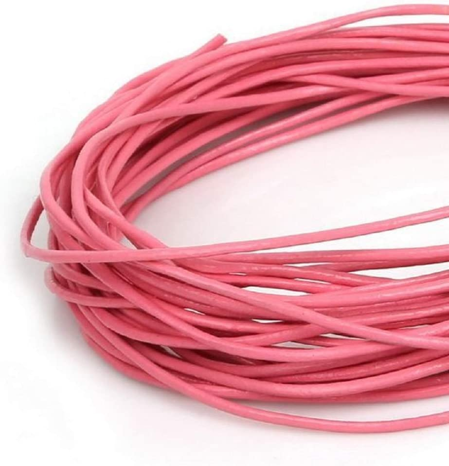 Turquoise, 1//8-3mm 3//64-1mm 1//16-1.5mm 5//64-2mm 1//8-3mm Cord Wire 5M Genuine Leather Cords Round Rope String for Jewelry Making Bracelet Necklace Craft Accessories DIY
