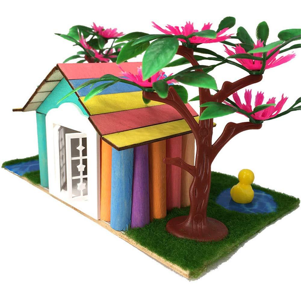 Zhangcaiyun Miniatur DIY Haus Erstellen Sie dreidimensionale Simulation von DIY-Blöcke Iglu Kinder manuell zusammengebaute Spielzeug Geschenke Kreatives Geschenk für Jungen und Mädchen Puppenhaus