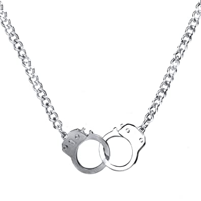 Caines handcuff necklace silver emitations amazon jewellery caines handcuff necklace silver aloadofball Image collections