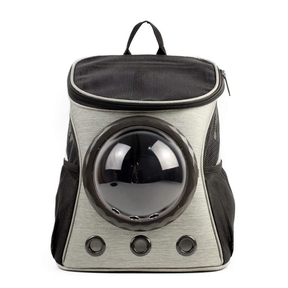 As-picture 322537CM As-picture 322537CM HYUE Canvas Space Capsule Pet Backpack Gossamer Shoulder Travel Out Portable Dog Cat Bag (color, Size   32  25  37CM)