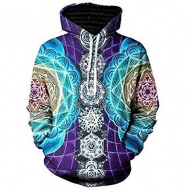 d2cae4984 Amazon.com: YCHY 3D Mandala Chakra Print Hoodies Streetwear Tracksuit Long  Sleeve Sweatshirt: Clothing