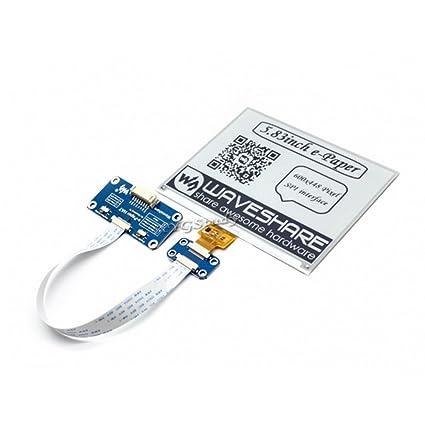 Amazon Com 5 83 Inch E Ink Display Hat Resolution 600x448 Spi