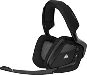 Corsair Void RGB Elite Wireless Premium Gaming Headset with 7.1 Surround Sound, Carbon