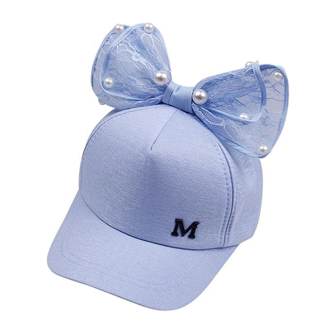 Kinder Mädchen Bowknots Basecap Sommer Baseball Cap Snapback Cappy Kinder Caps