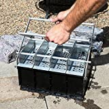 4 in 1 Paper Log Briquette Maker Newspaper Fireplace Recycle Log Maker