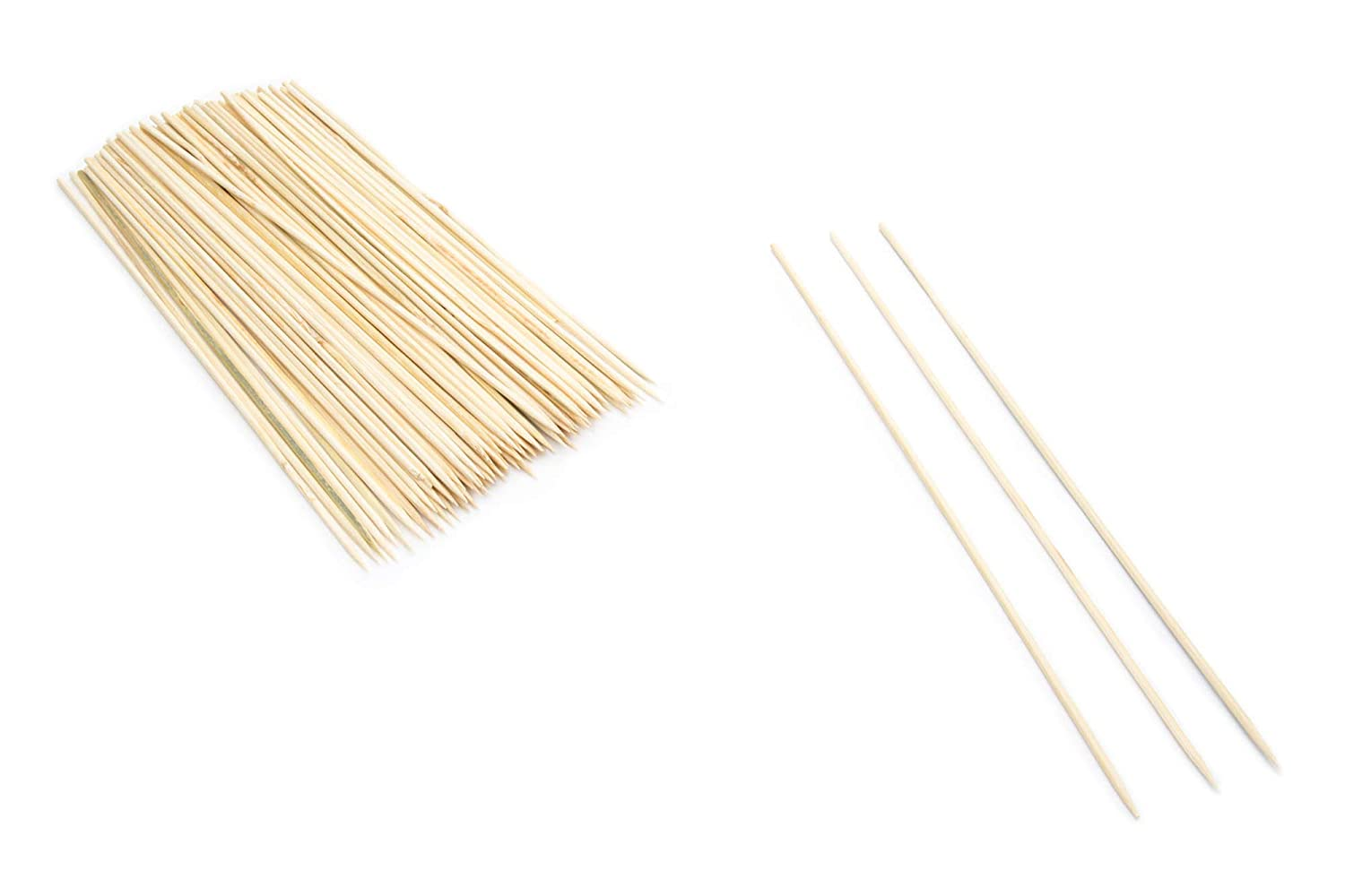 A more eco-friendly and practical alternative to plastic skewers satay vegetables Fox Run Bamboo 10 Skewers Pack of 200 fruit for grilling meat