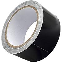 Akuoly Thermo-shield aluminiumband, zelfklevend, hittewerende tape, 50 mm breed, 20 m lang, zwart