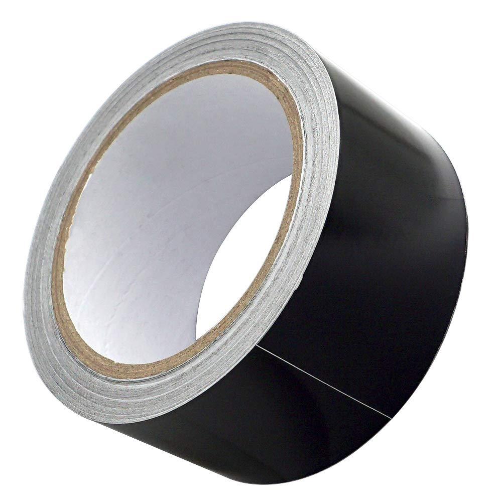 Akuoly Bande en aluminium autocollante Thermoshield pour protection contre la chaleur Noir 50 mm x 20 m