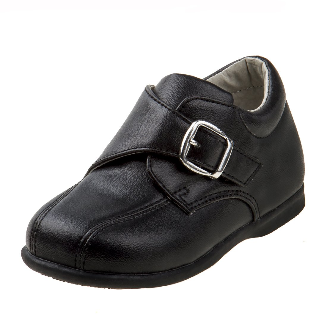 Josmo Boy's Walking Dress Shoe, Black, 4 M US Toddler'