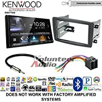 Volunteer Audio Kenwood DMX7704S Double Din Radio Install Kit with Apple CarPlay Android Auto Bluetooth Fits 2001-2004 Mercedes C Series