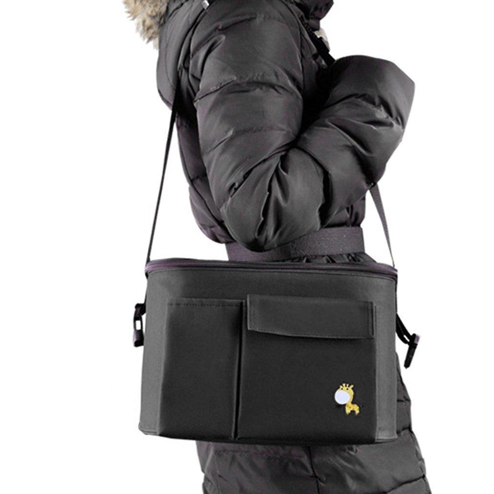 Bolsa de cochecito de gran capacidad bolso de la momia portátil del pañal del bolso del carrito del bebé Organizador del cochecito bolso OUTAD
