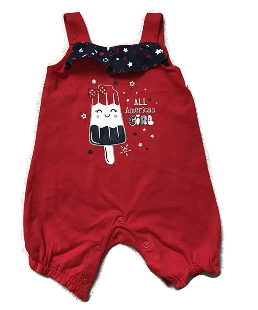 a63decb445f Amazon.com  Patriotic Red White and Blue Baby Short Outfit