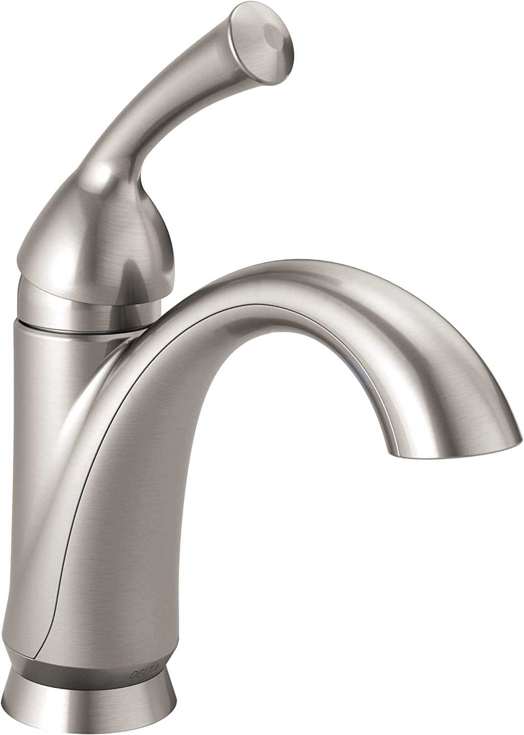 delta faucet haywood single hole bathroom faucet brushed nickel single handle bathroom faucet diamond seal technology drain assembly stainless