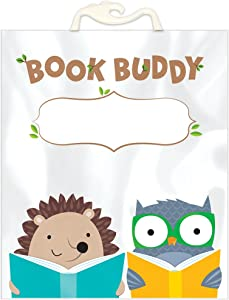 "Creative Teaching Press Woodland Friends Book Buddy Bag Classroom Organizer, 10.5"" x 12.5"" (Pack of 6) (8537)"