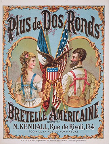 Bretelle Americaine Vintage Poster France (16x24 SIGNED Print Master Giclee Print w/ Certificate of Authenticity - Wall Decor Travel Poster)