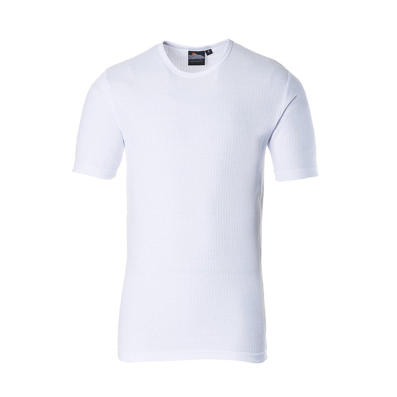 Portwest B120BKRL grande térmica de manga corta camiseta - Negro - con
