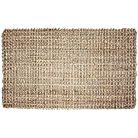 J&M Home Fashions Neutral Eco-Friendly Sturdy Rolled Natural Indoor/Outdoor Jute Rug, 22x60, Reversible for double the wear-Gold