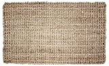 Neutral Eco-Friendly Sturdy Rolled Natural Indoor/Outdoor Jute Rug, 24x36', Reversible for double the wear-Gold